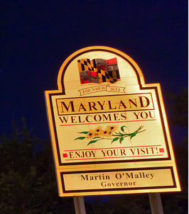 U.S. State Birthdays - Maryland State Sign