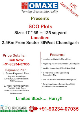 OMAXE Phase 3 SCO Plots New Chandigarh