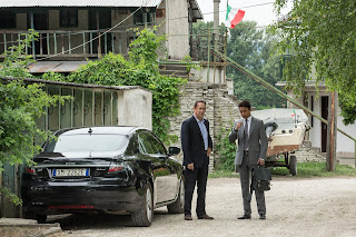 Below is the first still featuring Irrfan Khan in the film, along with Tom Hanks who reprises his role as Robert Langdon following The Da Vinci Code and Angels & Demons.