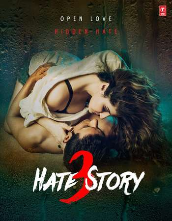 Poster Of Hate Story 3 2015 Hindi 400MB Web-DL 720p ESubs - UNCUT HEVC Watch Online Free Download Worldfree4u
