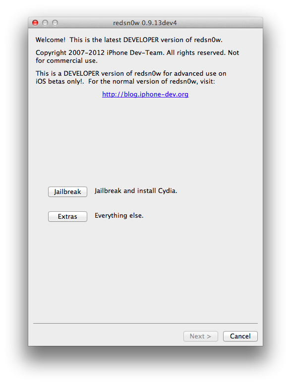 Download redsn0w 0. 9 build 15b3.