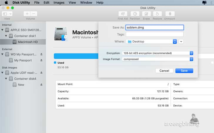 cara lock folder di macos