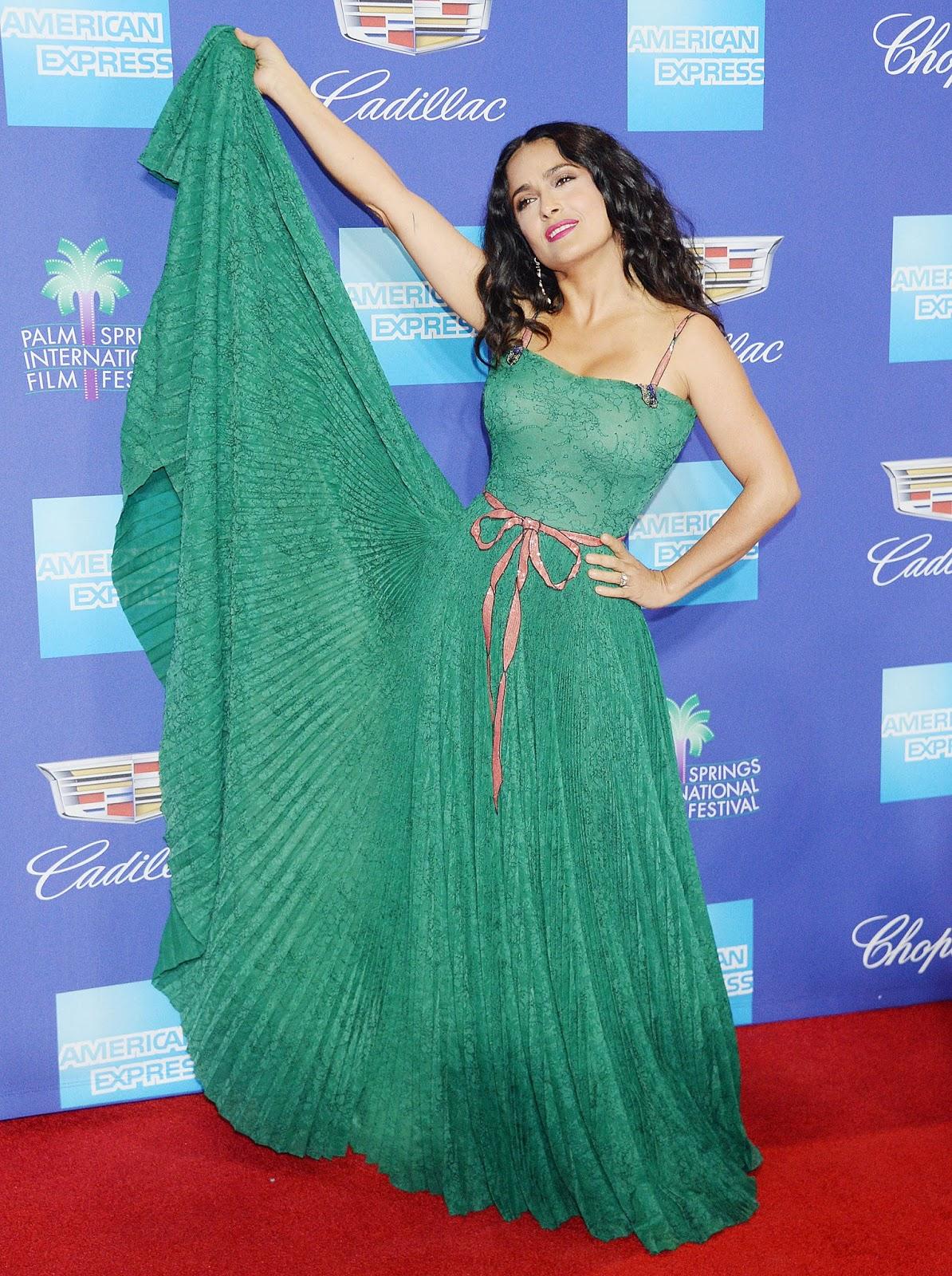 Salma Hayek`s Dress 2018