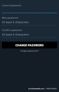 Steps to changing twitter password