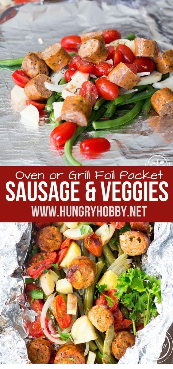 Sausage & Veggie Foil Packets