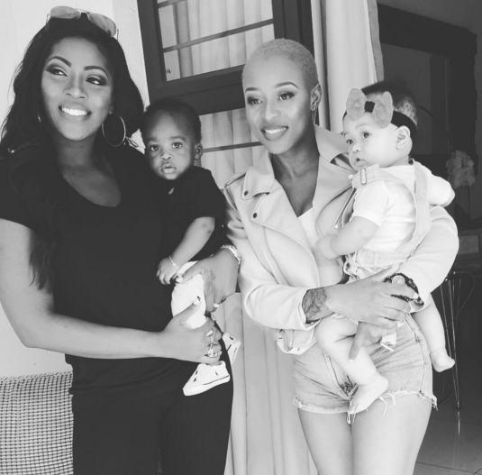 Tiwa Savage and South African DJ Zinhle imagined together with their children
