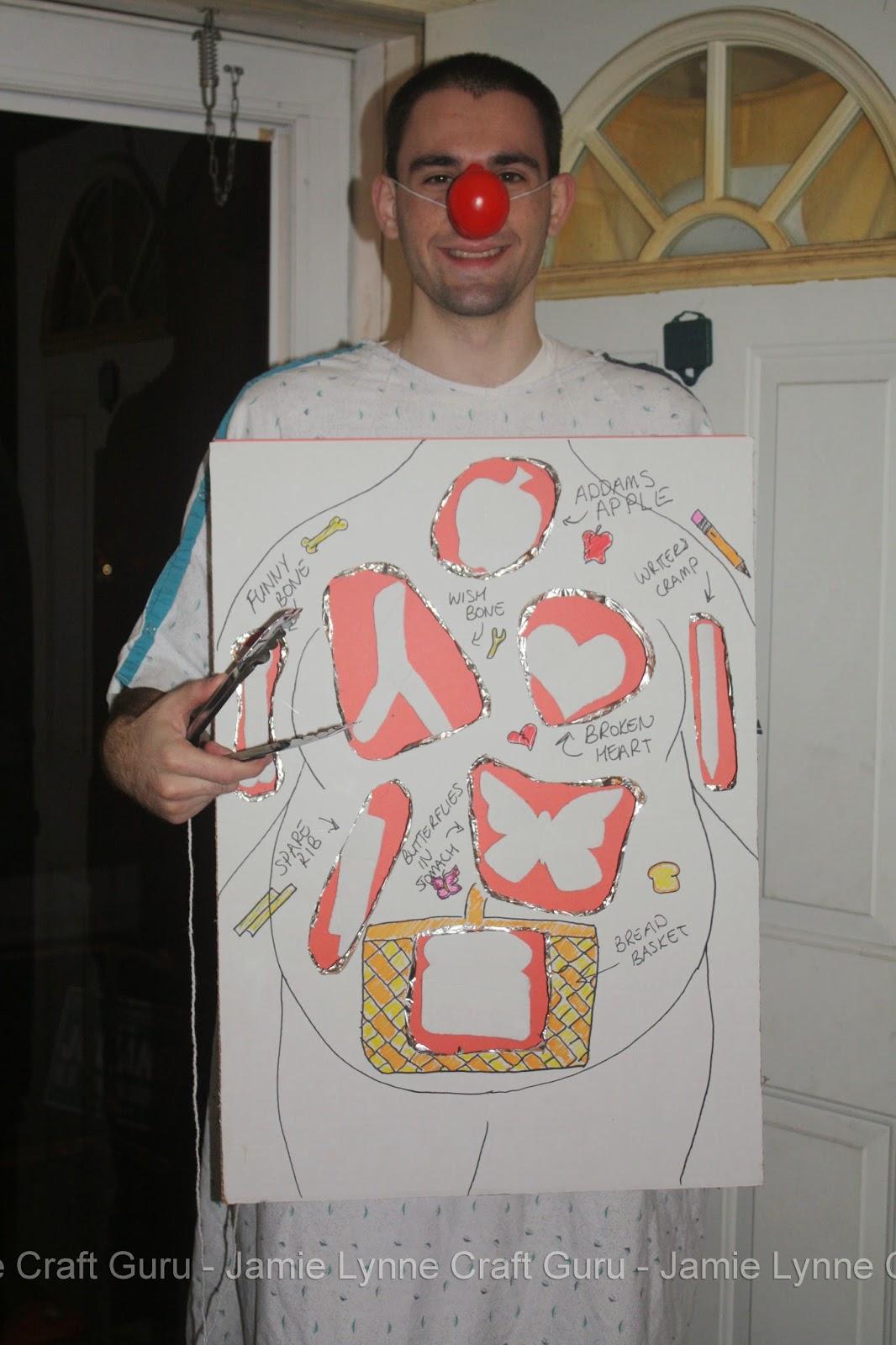 Jamie Lynne Craft Guru Homemade Costumes Operation Man