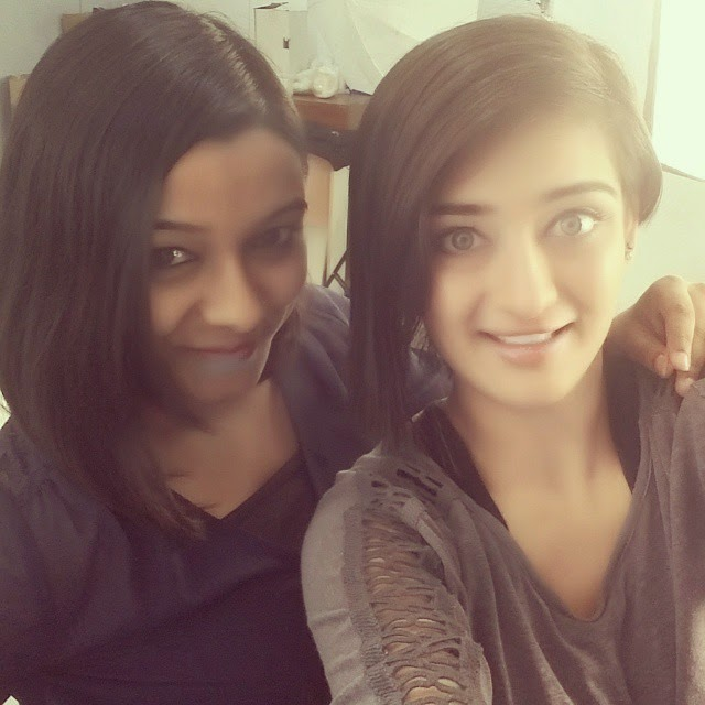 and there it is...we have the same haircut , :d selfie , wid akshara haasan , love my haircut , posers , insta pic , insta daily , journalist , studio shoot , rising star ,