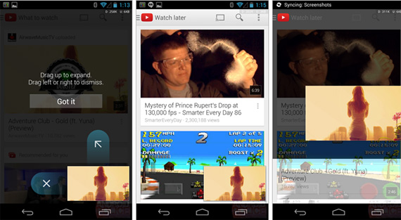YouTube for Android, Αναβάθμιση με mini player.