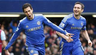 Eden Hazard & Frank Lampard dari Chelsea