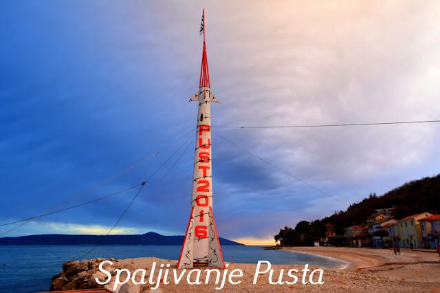 Spaljivanje Pusta Gobota/rakete u Mošćeničkoj Dragi @ Pusna srijeda, 10.02.2016