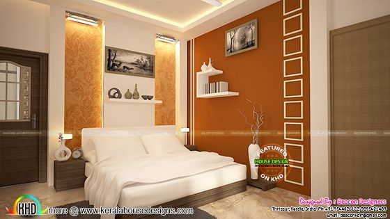 Bedroom room interior, Thrissur