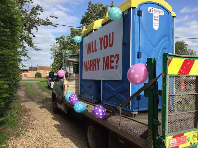 Funny Will You Marry Me? Porta-Loo Sign Photo