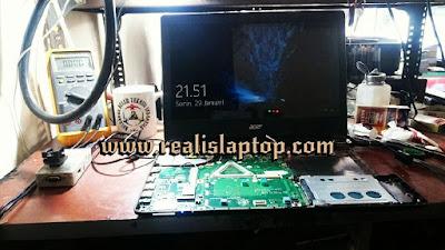 service laptop acer es1-421 tidak tampil di layar