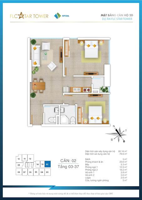 Thiết kế căn hộ 02 - FLC Star Tower