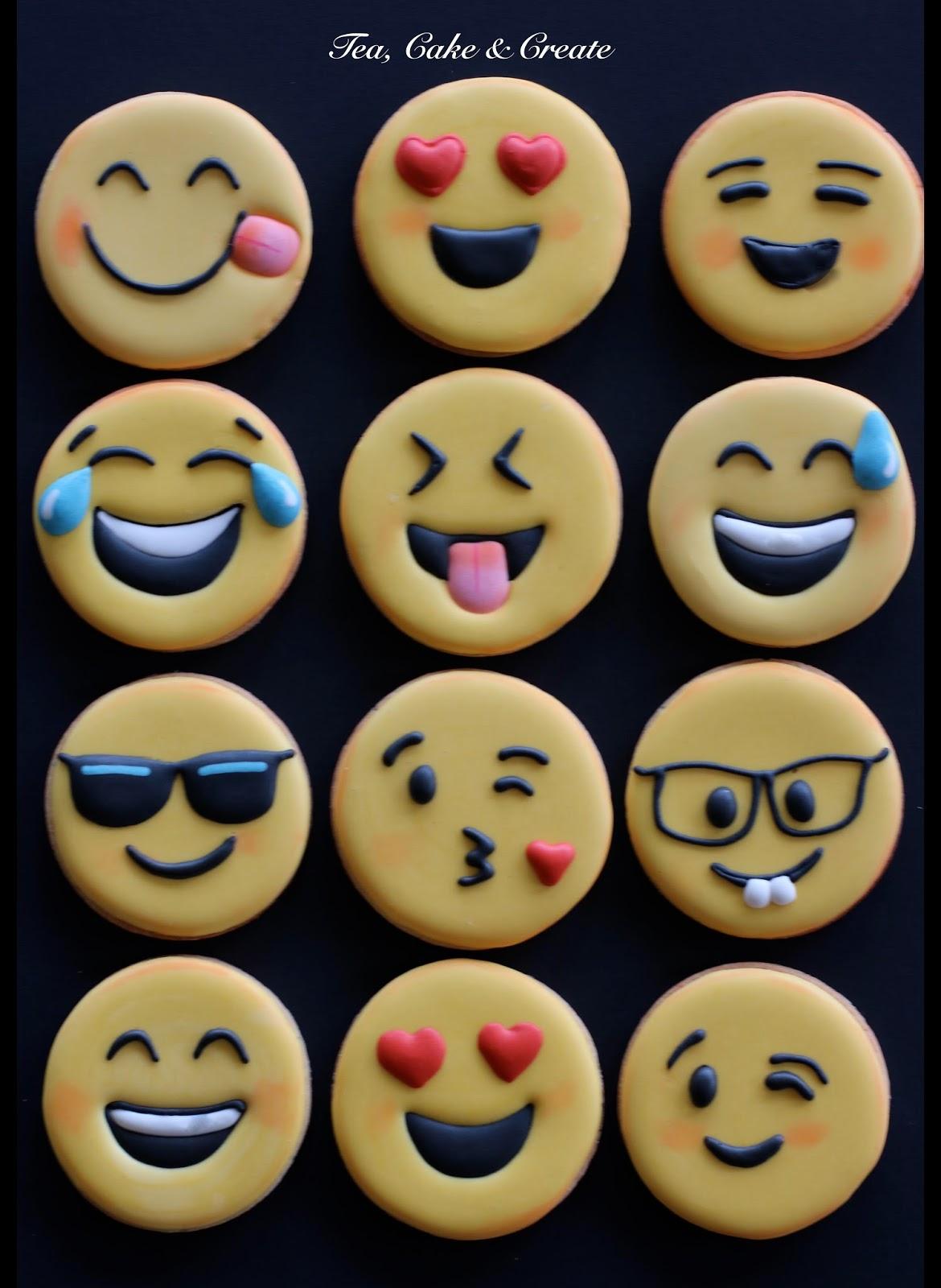 tea cake create emoji cookies