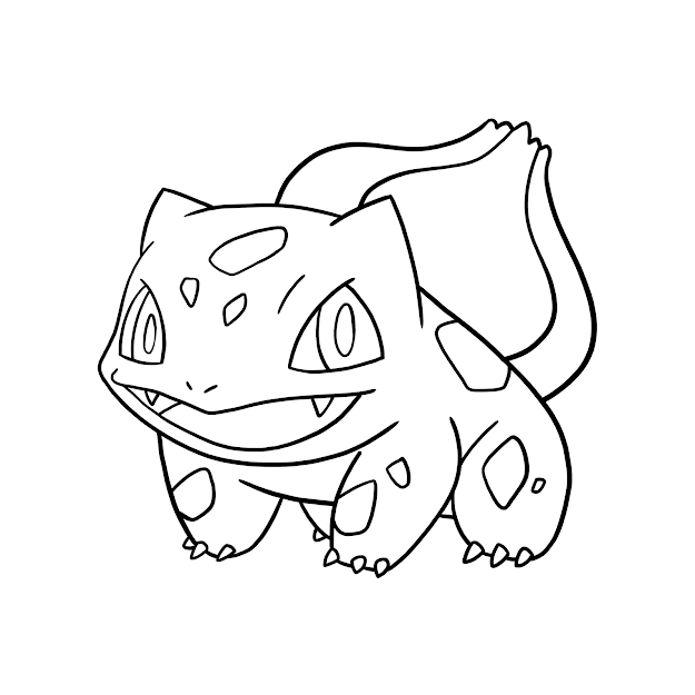 Bulbasaur Charmander Squirtle Coloring Page Within Pokemon Coloring Pages  Bulbasaur