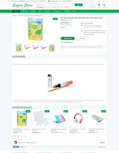 Template blogspot bán hàng miễn phí Super Store - Giaodienblog.com
