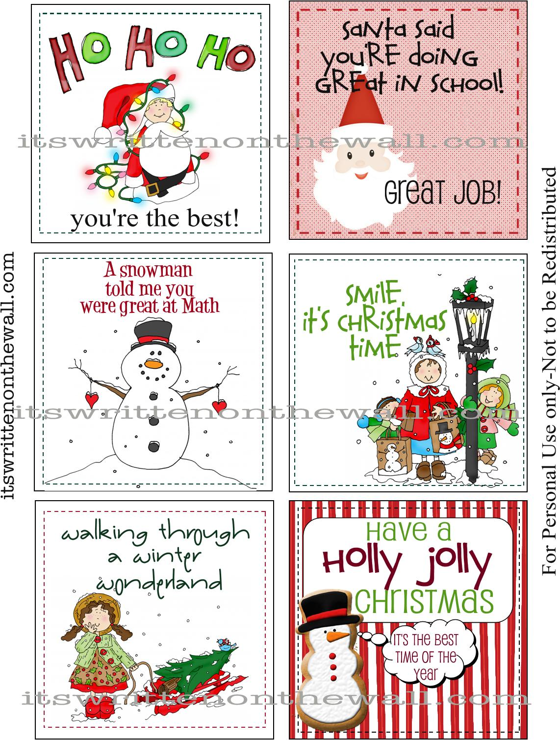 It's Written on the Wall: (Freebie) Our 30 Christmas ... |Christmas Lunch Box Notes