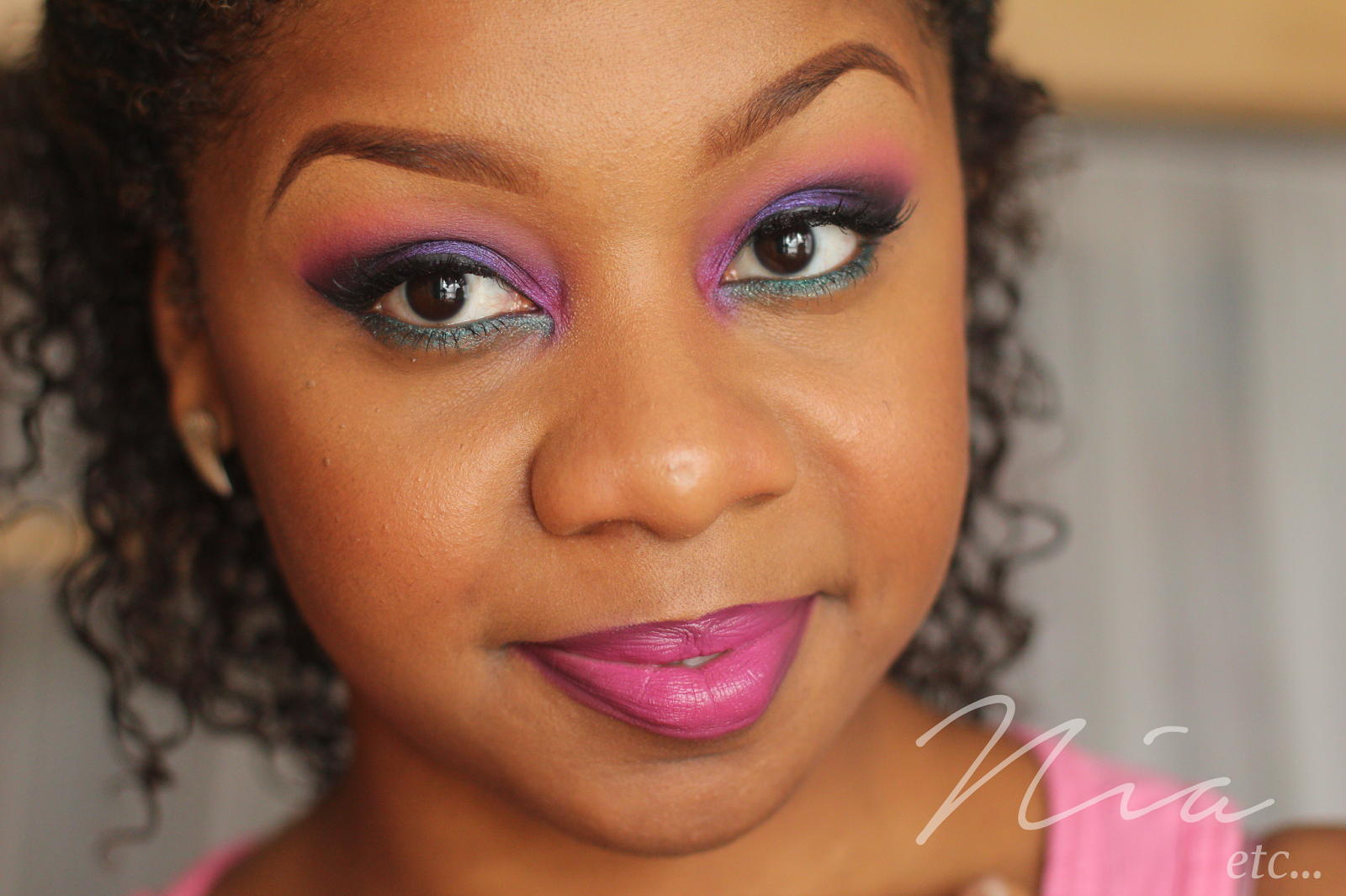 Jewel Toned Pink and Purple MakeUp Look 6