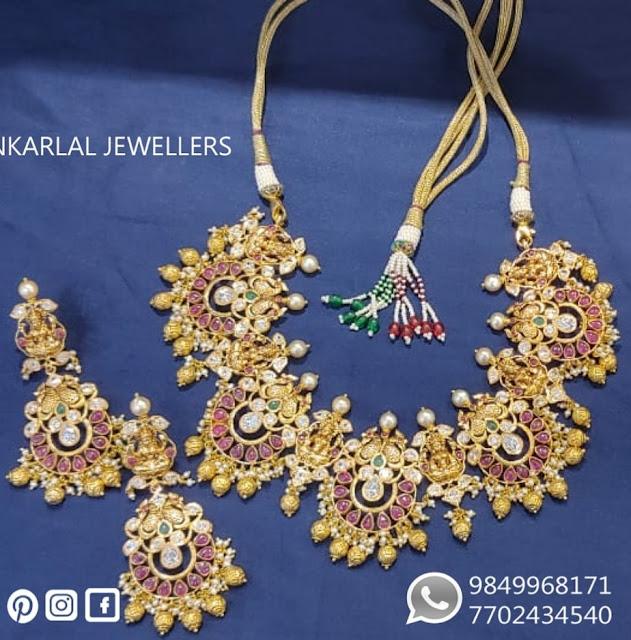 Lakshmi Chandbali Set by Shankarlal Jewellers