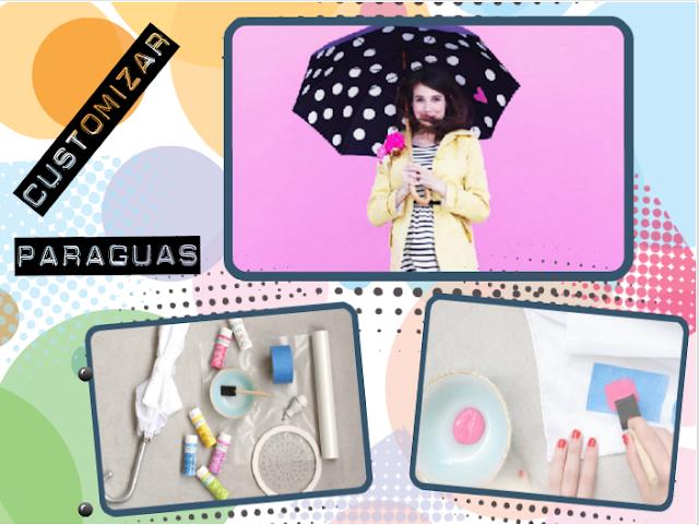 paraguas, customizar, tunear, decorar, manualidades