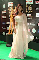Prajna Actress in bhackless Cream Choli and transparent saree at IIFA Utsavam Awards 2017 024.JPG