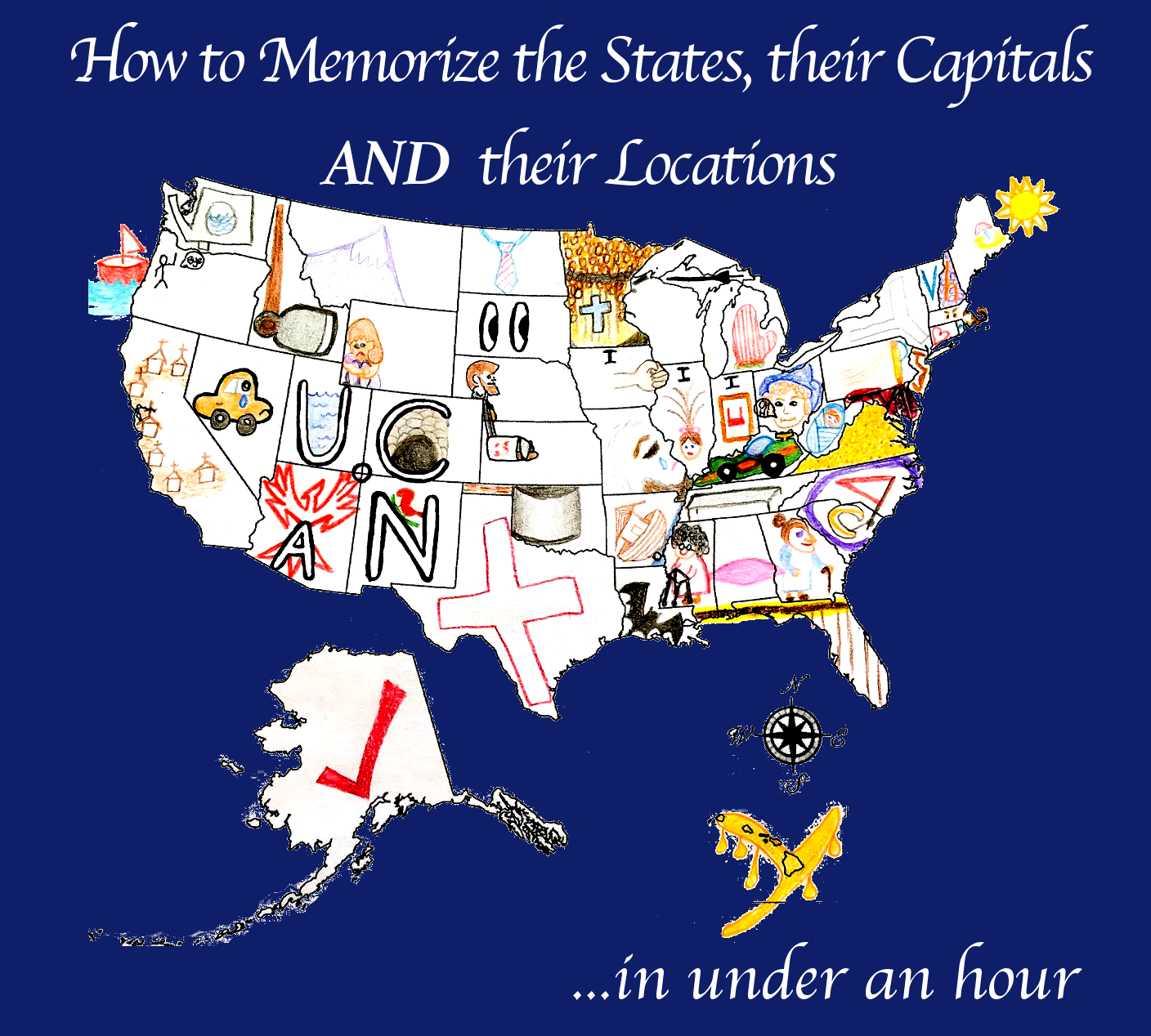 US States Song How To Remember All The Names Plus Lyrics To How - Us map of all states
