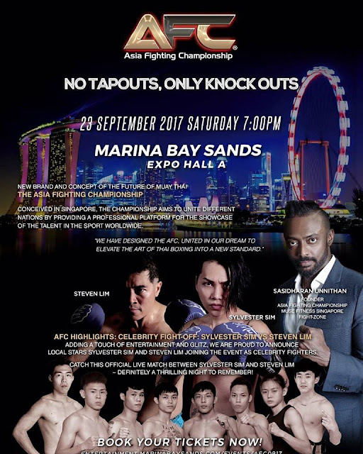 Singapore's Inaugural Asia Fighting Championship In September