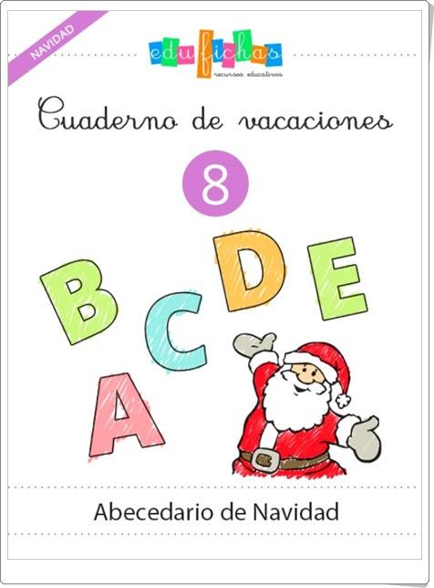 """Cuaderno de Vacaciones 8: """"Abecedario de Navidad de Educación Infantil"""""""