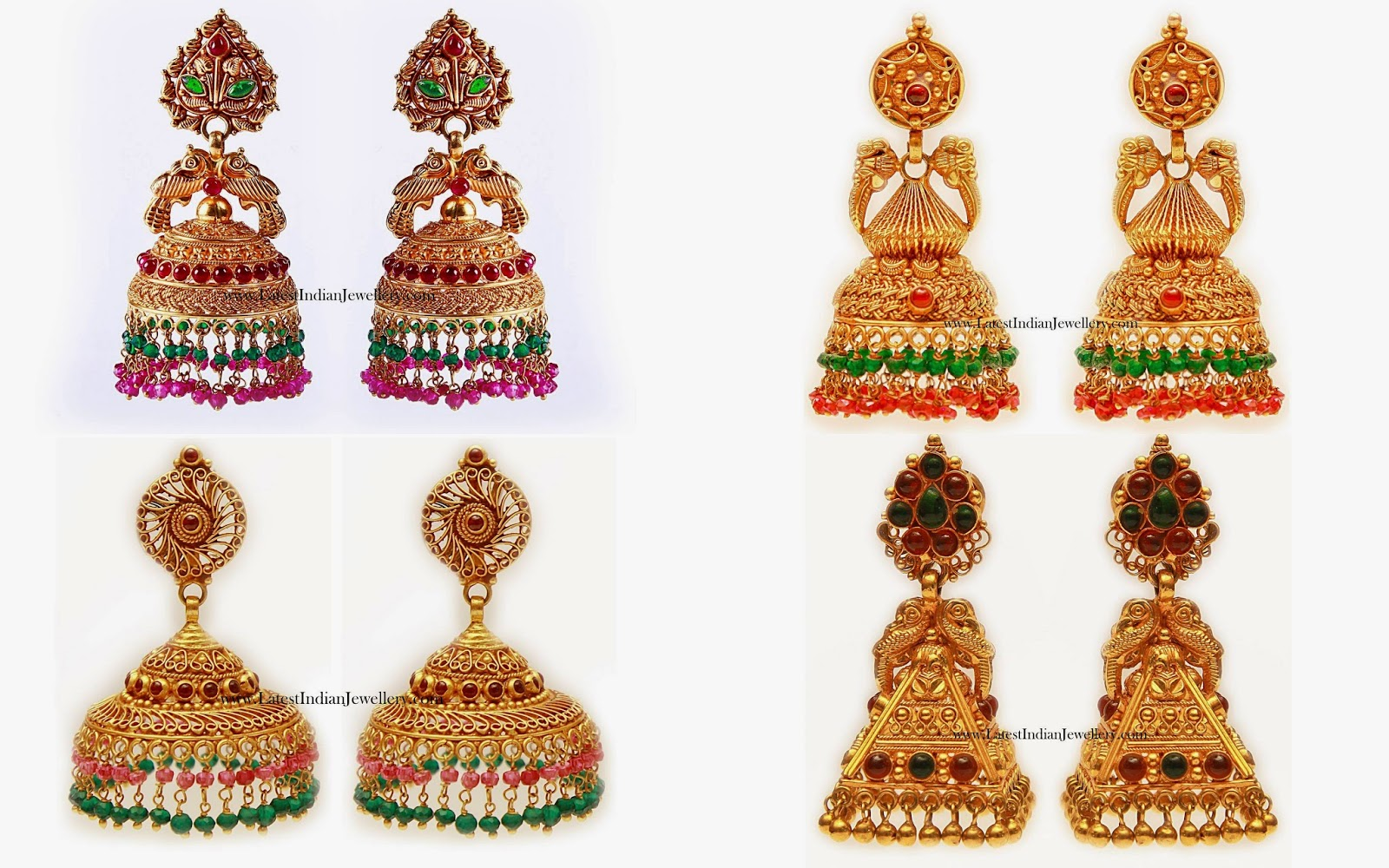 Latest Gold Jhumkas Designs