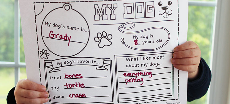 Dog Printable Activity Pack for Kids: Coloring Pages and More