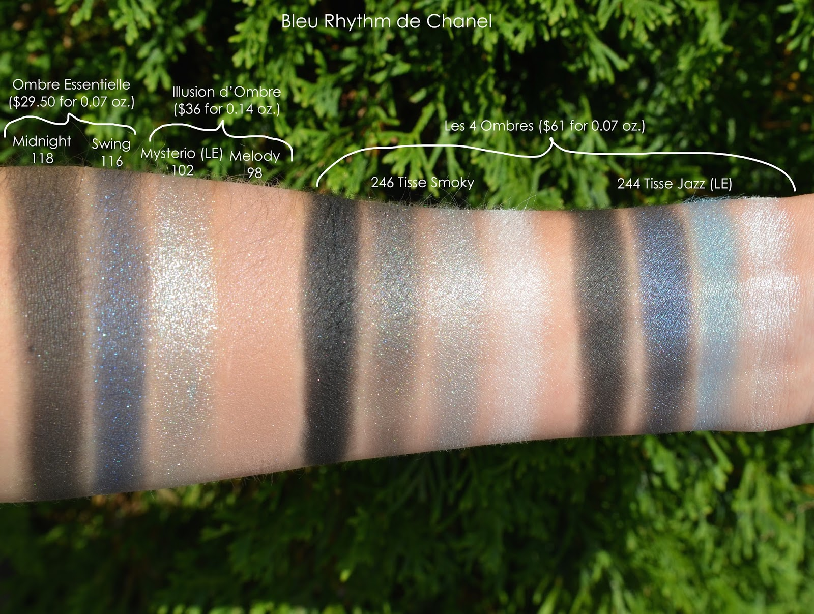 Blue Rhythm de Chanel Swatches and Review