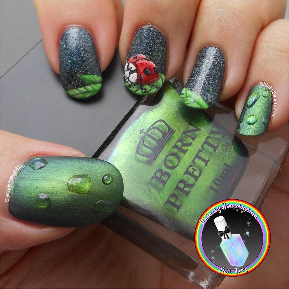 Freehand Ladybug 3d Gel Polish Raindrops Ithinitybeauty Nail