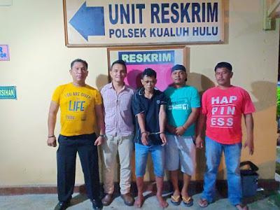 Unit Reskrim Polsek Kualuh Hulu Ciduk Tersangka Pelaku Spesialis Pembongkar Rumah