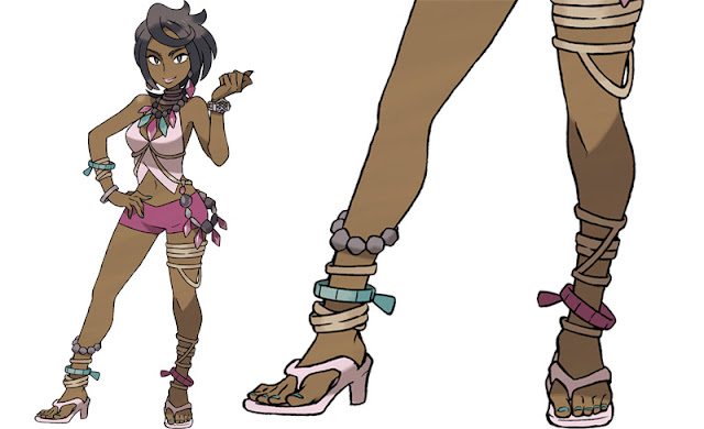 Pokemon sun and moon Kahuna Olivia