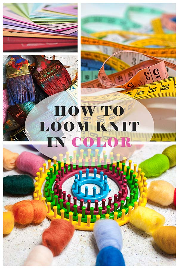 loom knitting, simple color changes on the loom, loom knitting instruction, loom knitting tutorial