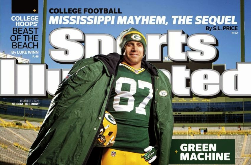 Jordy Nelson made the cover of Sports Illustrated. Cool, huh?