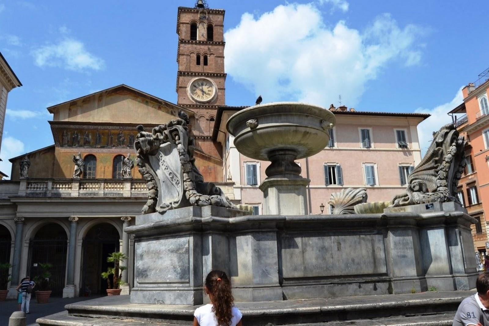 Tavolini Di Marmo Trastevere : Santa maria in trastevere pieroeffenews