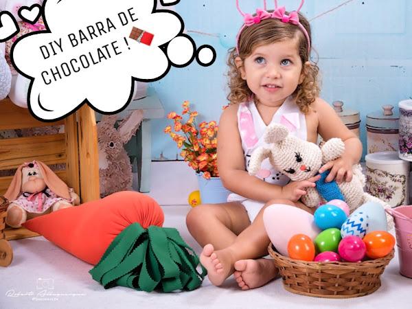 Barra de chocolate personalizada para Páscoa