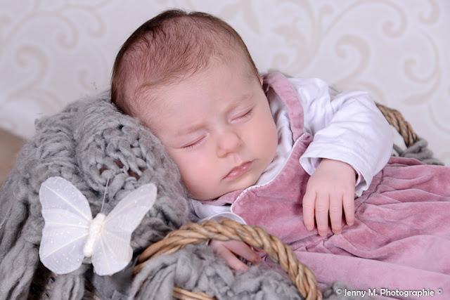 portrait bébé photo studio douceur papillon bébé dodo
