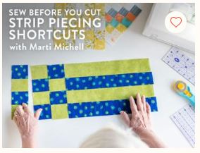strip piecing shortcuts
