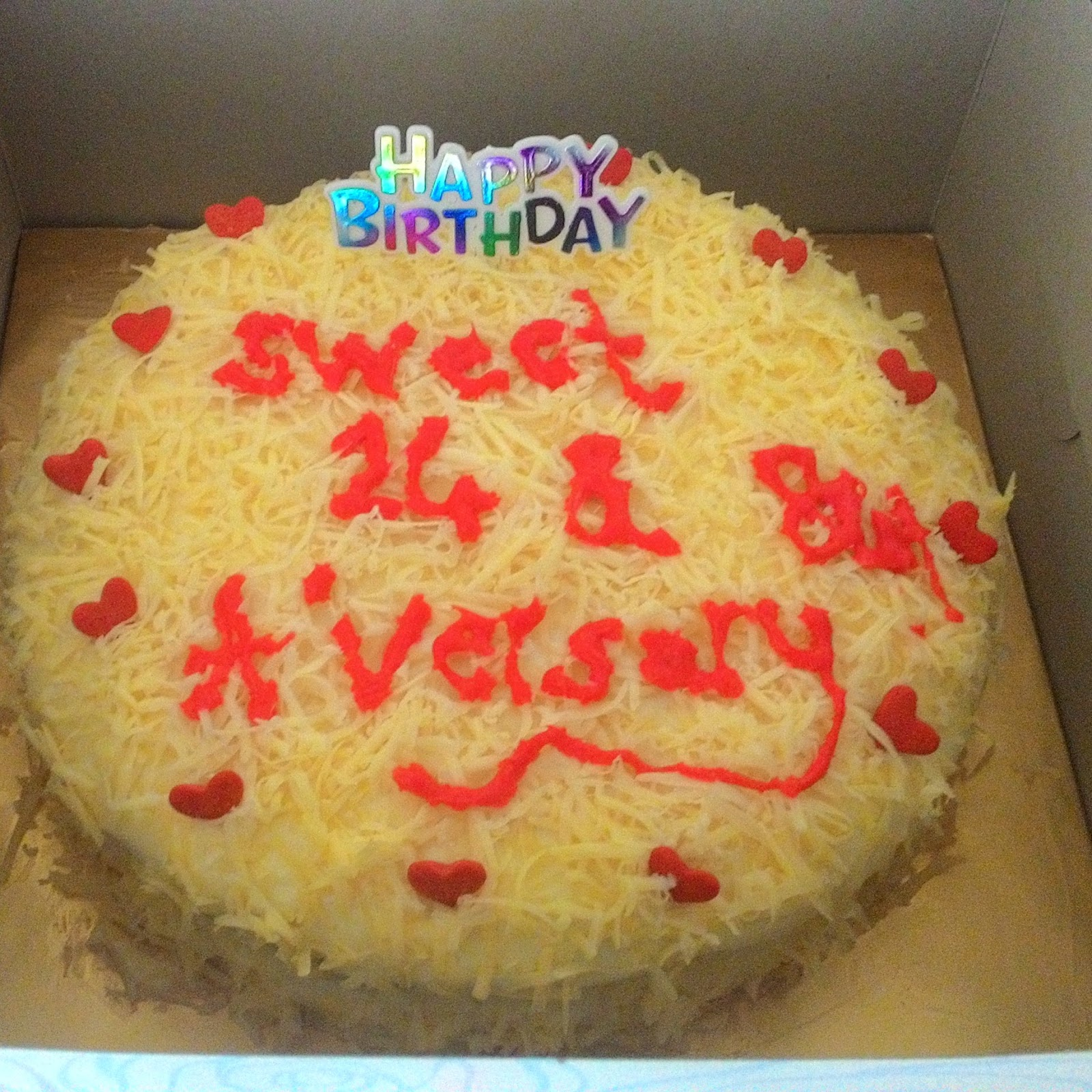 Sweet red cherry: Tempahan kek birthday: Snow cheese cake