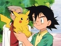 Ash y Pikachu juntos por primera vez