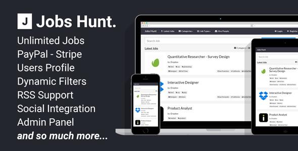 CodeCanyon - Jobs Hunt v1.0.3 - The Job Portal