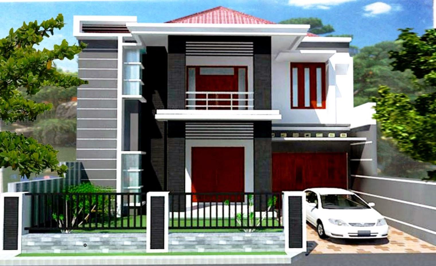 Rumah Minimalis Modern 2 Lantai Dekorasi Rumah 123