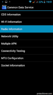 Radio Information Screenshot