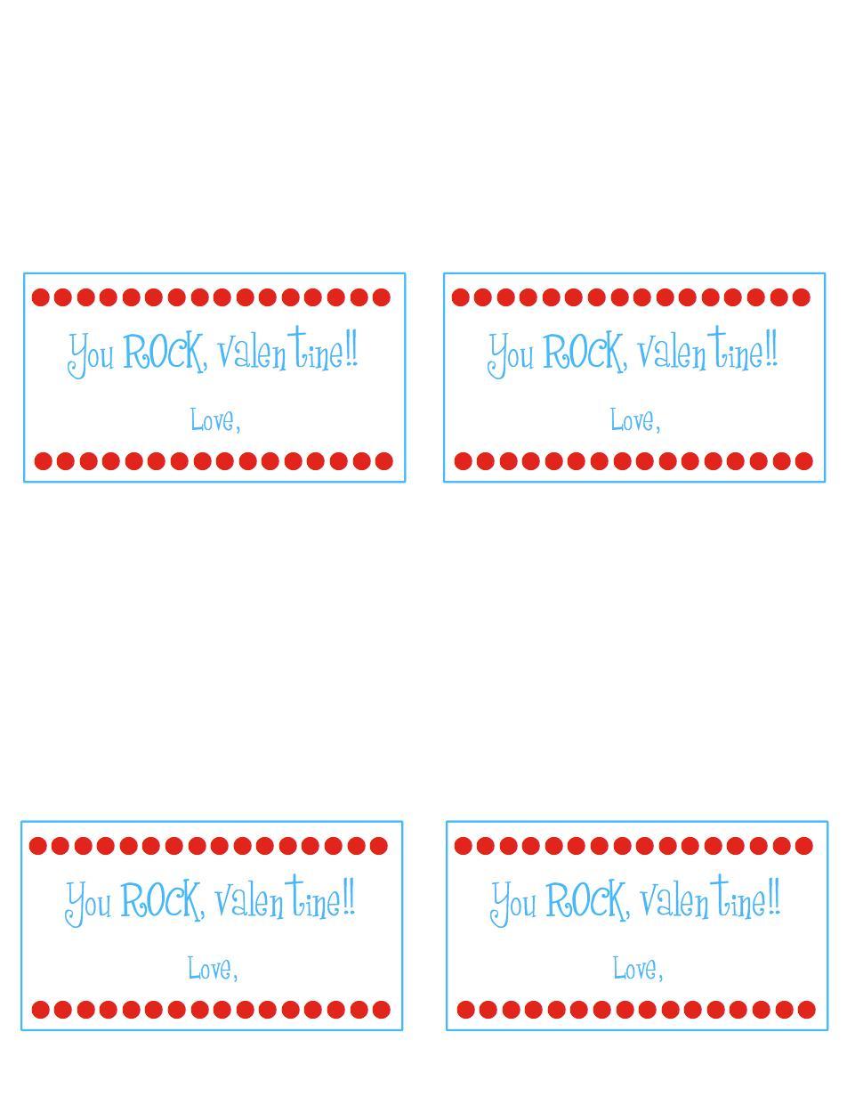 graphic regarding Pop Rocks Valentines Printable named Yourself Rock, Valentine! A Minimal Snippet