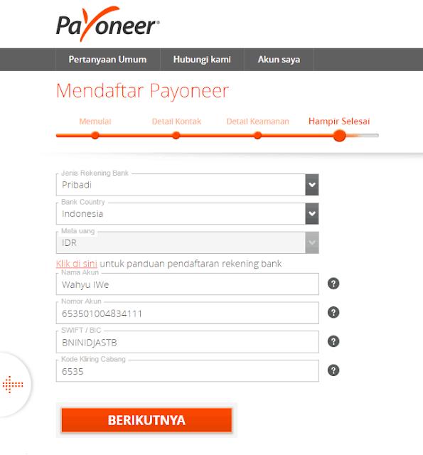 Kartu Kredit MasterCard Gartis dari Payoneer
