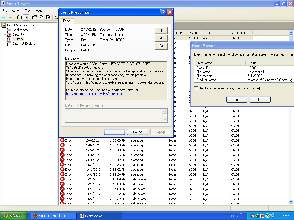 Troubleshooting Windows Errors And Solutions: Event 10000